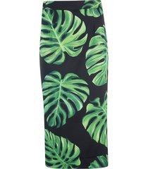 dolce & gabbana tropical print mid-length skirt