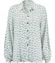 blouse zebra wit