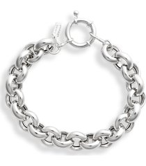 loren stewart moderna round link bracelet, size 7 in in sterling silver at nordstrom