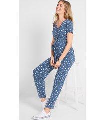 zwangerschaps jumpsuit / voedingsjumpsuit van lenzing™ ecovero™