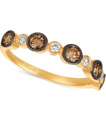 le vian chocolatier diamond bezel statement ring (3/4 ct. t.w.) in 14k gold