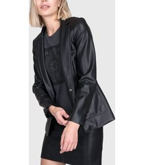 blazer  ash bolsillo parche negro - calce regular