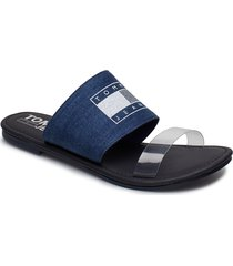 susy 15j shoes summer shoes flat sandals blå tommy hilfiger
