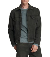 men's rag & bone definitive jean jacket, size x-large - green