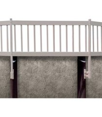 vinyl works above ground pool 2 section fence kit