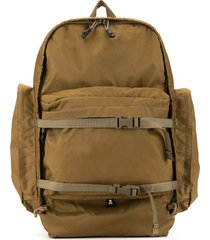 makavelic cargo pocket backpack - brown
