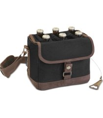 legacy by picnic time beer caddy black & brown cooler tote with opener