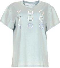katoenen t-shirt met logo iroyoux  blauw