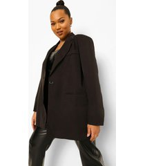 plus getailleerde oversized blazer, black