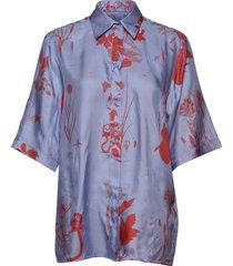 leros x blouses short-sleeved blauw tiger of sweden