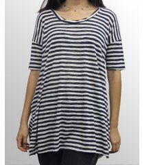coin 1804 womens stripe v-neck dolman tee