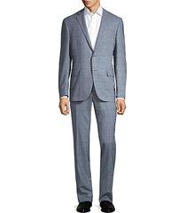 classic-fit glen plaid virgin wool suit