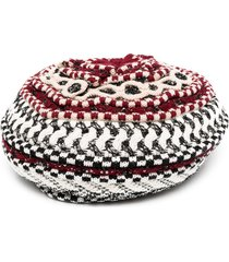 missoni crocheted beret - red