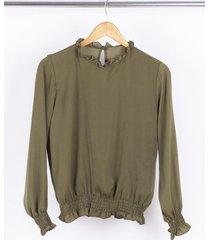 blusa verde nano gala