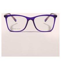 armação para óculos de grau feminina quadrada roxa