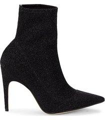 nero glitter heeled booties