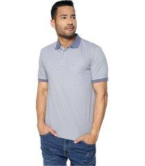 camiseta polo manga corta gris claro kosta azul