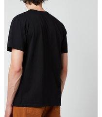 maison kitsuné men's fox head patch classic t-shirt - black - l