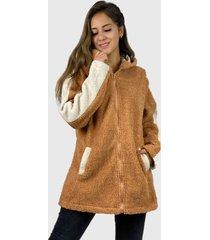 abrigo bi color boho chic naranjio enigmática boutique