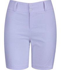shorts pau a pique sarja branco