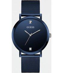 analogowy zegarek z diamentową aplikacją