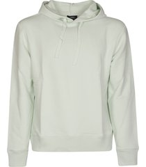 a.p.c. plain hooded sweatshirt