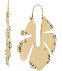 jessica simpson flower hoop earrings