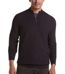 joseph abboud repreve® burgundy modern fit 1/4-zip sweater