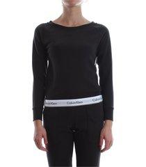 calvin klein 000qs5718e top sweatshirt sweater longwear women black