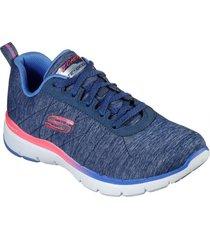 zapatos mujer  flex appeal 3.0 - fan craze azul skechers