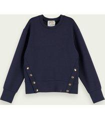 scotch & soda super-soft sweatshirt with button detail
