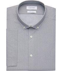 calvin klein black diamond print slim fit short sleeve dress shirt