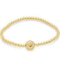 adriana orsini women's goldtone & crystal open heart bracelet