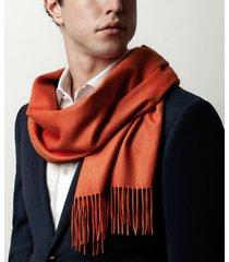 sciarpa da uomo, lanieri, cashmere seta arancione, autunno inverno | lanieri