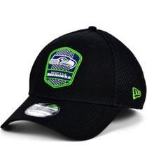 new era seattle seahawks black gray rubber neo 39thirty cap