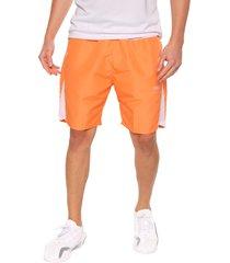 pantaloneta deportiva naranja-blanco jogo
