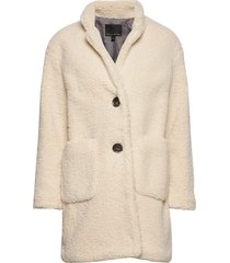 sherpa cocoon coat outerwear faux fur crème banana republic