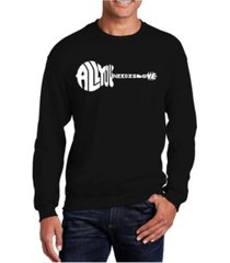la pop art men's word art all you need is love crewneck sweatshirt
