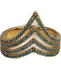 anel papillô joias princesa cravejado, em ouro 18k