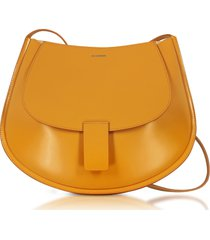 jil sander leather small crescent shoulder bag