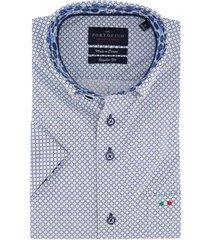 korte mouwen overhemd portofino blauwe print