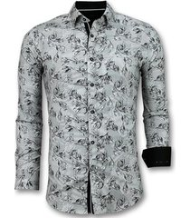 overhemd lange mouw tony backer blouse flower motief