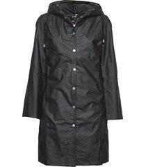 classic raincoat with matching hat. regenkleding zwart ilse jacobsen