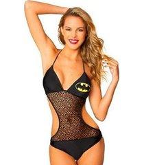 batgirl bat mesh triangle monokini 1 piece dc comics batman logo bathing suit