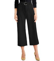 inc belted utility culotte pants, created for macy's
