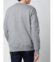 ps paul smith men's regular fit skull sweatshirt - melange grey - s