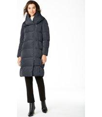 cole haan signature asymmetrical pillow-collar puffer coat