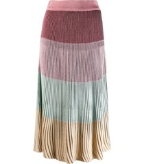 marco de vincenzo ribbed skirt - pink