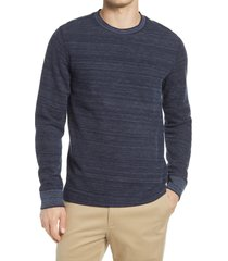 men's vince thermal crewneck pullover, size x-large - grey