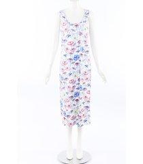 manuel canovas umbrella print sleep dress white/multicolor sz: l